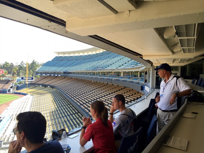 Day game dodger stadium loge level shaded